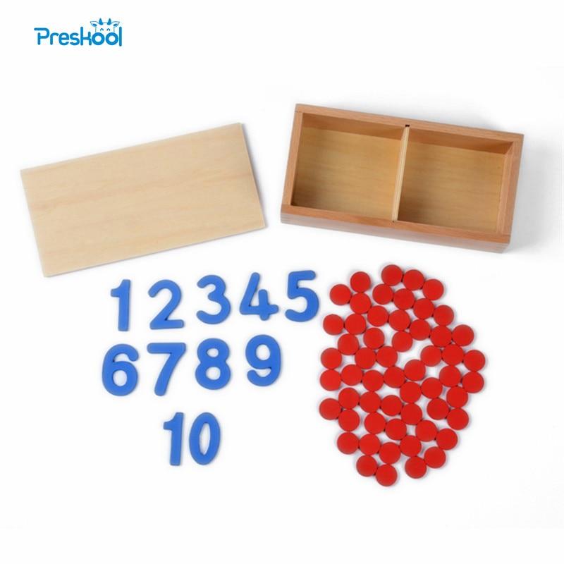 Dječja igračka Montessori kartice i brojači Matematički broj za rano djetinjstvo Obrazovanje Predškolsko obrazovanje Djeca Igračke Brinquedos Juguetes