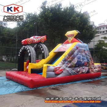 inflatable racing car bouncer inflatable obstalce slide for toddlers inflatable outdoor slide