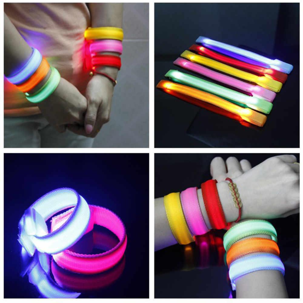 Cool LED bras lumineux Bracelet lumière nuit sécurité avertissement 3 Modes lumineux lampe de poche LED pour courir shopping cyclisme 20