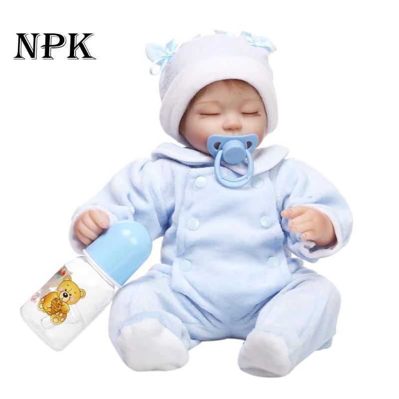 Здесь продается  NPK Doll 42cm Reborn Baby Doll Sleeping Playmate Simulation Soft Silicone Lifelike Toys Born Doll Bebe For Children Best Gift  Игрушки и Хобби