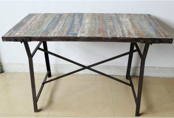 Vintage paese americano in ferro battuto tavolo da for Mobili da terrazzo in legno