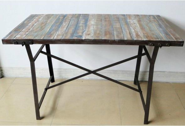 Vintage paese americano in ferro battuto tavolo da giardino ikea in legno tavolo dinette fatta - Tavoli ikea legno ...