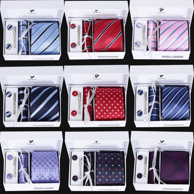 Seis piezas de 8 cm caja de regalo lazo corbata Del Novio de la boda trajes de negocios profesional