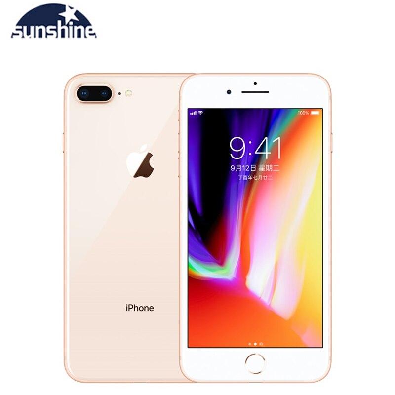 Used Apple IPhone 8 Plus 3GB 64GB Unlocked Original Cell Phones 3GB RAM 64/256GB ROM 5.5' 12.0 MP IOS Hexa-core Mobile Phone