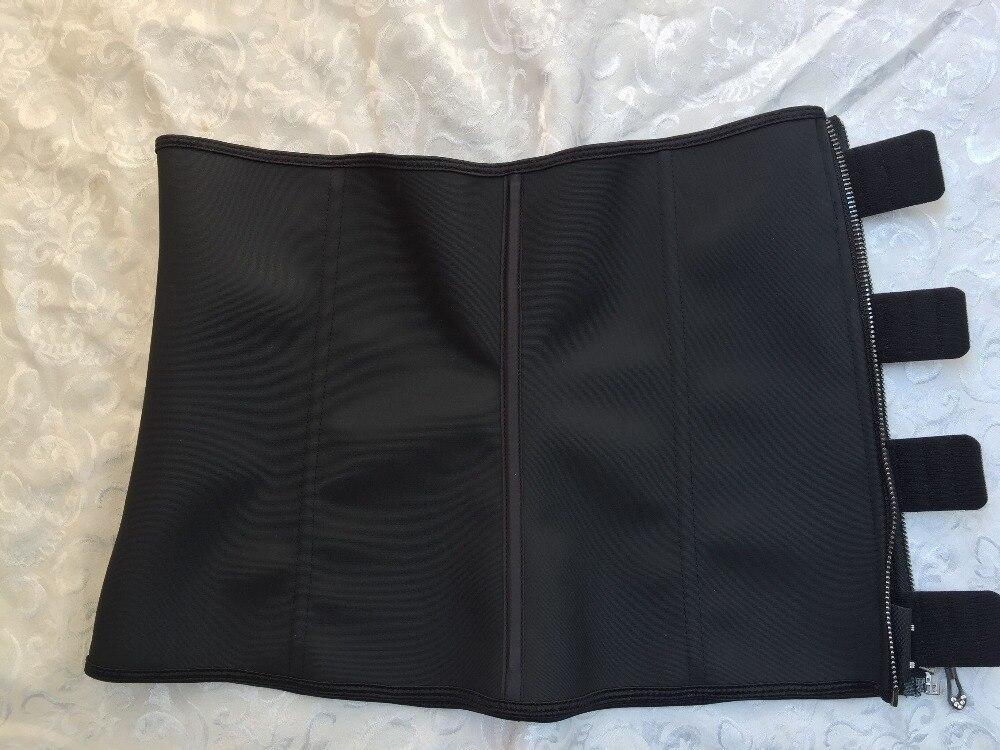 Meisou New Latex Waist Trainer Body Shaper Women Corset with Zipper Hot Shaper Cincher Corset Top Slimming Belt Black Plus Size (29)