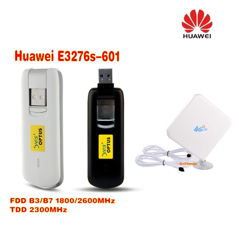 Huawei E3276s-601 4G LTE Cat4 150Mbps USB Modem+ 4G TS9 35DBI antenna original 150mbps huawei e3276s 500 4g dongle lte cat4 usb surfstick cat 4 4g usb universal modem