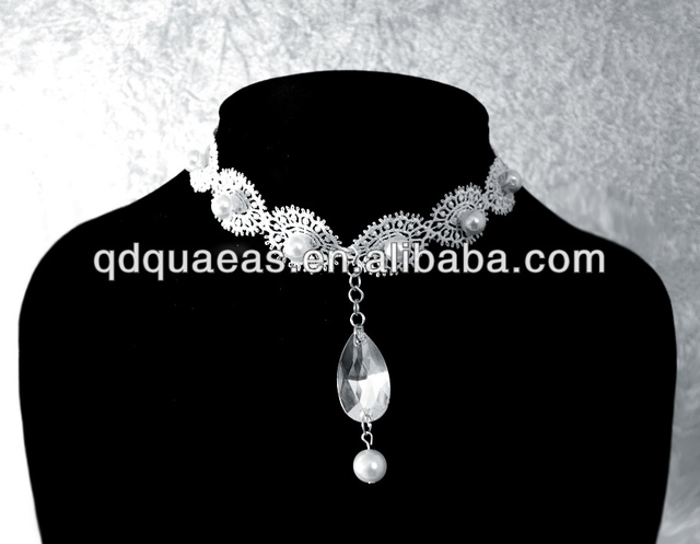 Necklace Lace Necklace Pearl Necklace Popular Wedding Ring Holder