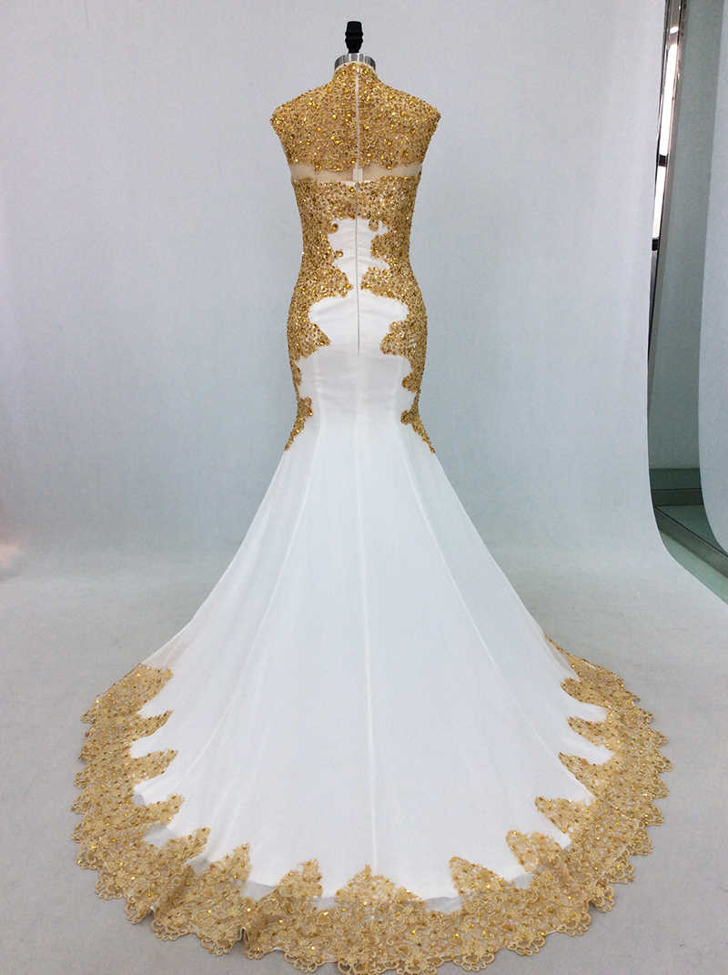Detail Feedback Questions About Elegant White Mermaid Evening