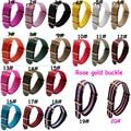1 UNIDS Alta calidad 18 MM 20 MM 22 MM 24mm lavable correa de la otan hebilla de oro rosa Reloj banda de la otan correas correa de reloj de 20 colores