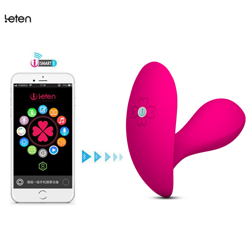 Leten Bluetooth Connect Intelligent App Remote Control Wearable Butterfly Vibrator,G-Spot Clitoral Vibrator Sex Toys For women leten smartphone app remote control sarah rabbit vibrators bluetooth connectivity waterproof sex toys for woman