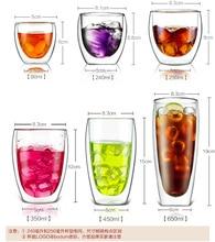 Heat-resistant Double Wall Glass Cup Beer Coffee Cup Set Handmade Kungfu Tea Drink Cup Healthy Drink Mug Transparent Drinkware