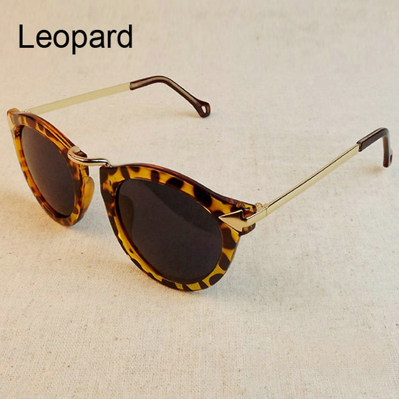 Women Sunglasses Arrow Style Female Glasses Metal Frame Round Sun Glasses
