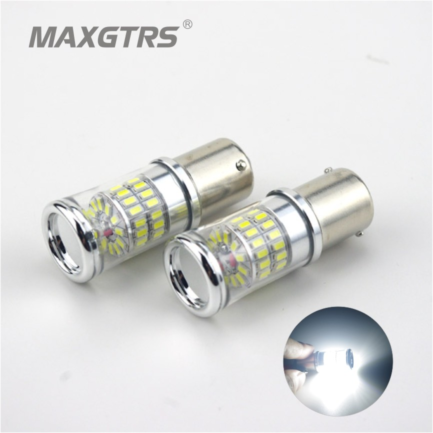 2XS25 1156 BA15S 48 SMD 3014 48W LED Light Bulb Turn Signal Backup Parking Reverse Tail Lamp Brake Light DC12-24V Light Sourcing