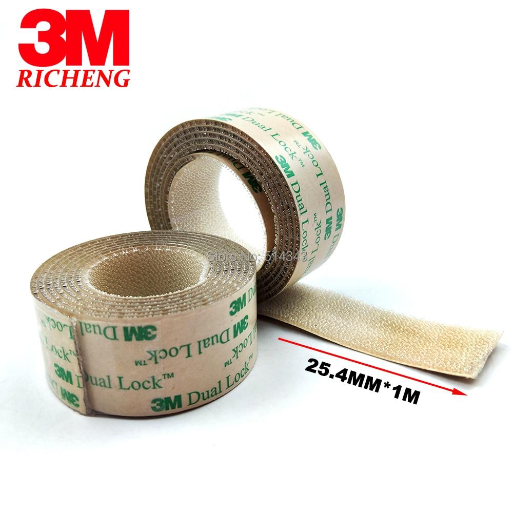 Free Shipping 3M SJ4570 25.4mm* 1Meter Low Profile Adhesive Dual Lock Reclosable Self Adhesive Fastener Tape