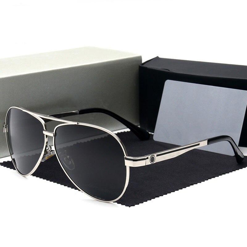 Marca óculos de sol homem polarizado óculos de condução uv400 marca designer mercede 737 piloto óculos de sol metal vintage gafas sol hombre