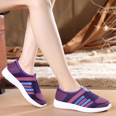 BAICLOTHING sapatos femininos women casual breathable sport shoes female leisure spring summer slip on shoes cool soft shoes baiclothing women casual pointed toe flat shoes lady cool spring pu leather flats female white office shoes sapatos femininos