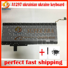 "A1297 ukraine ukrainian keyboard without backlight backlit for macbook pro 17"" A1297 ukraine keyboard 2009 2010 2011year"