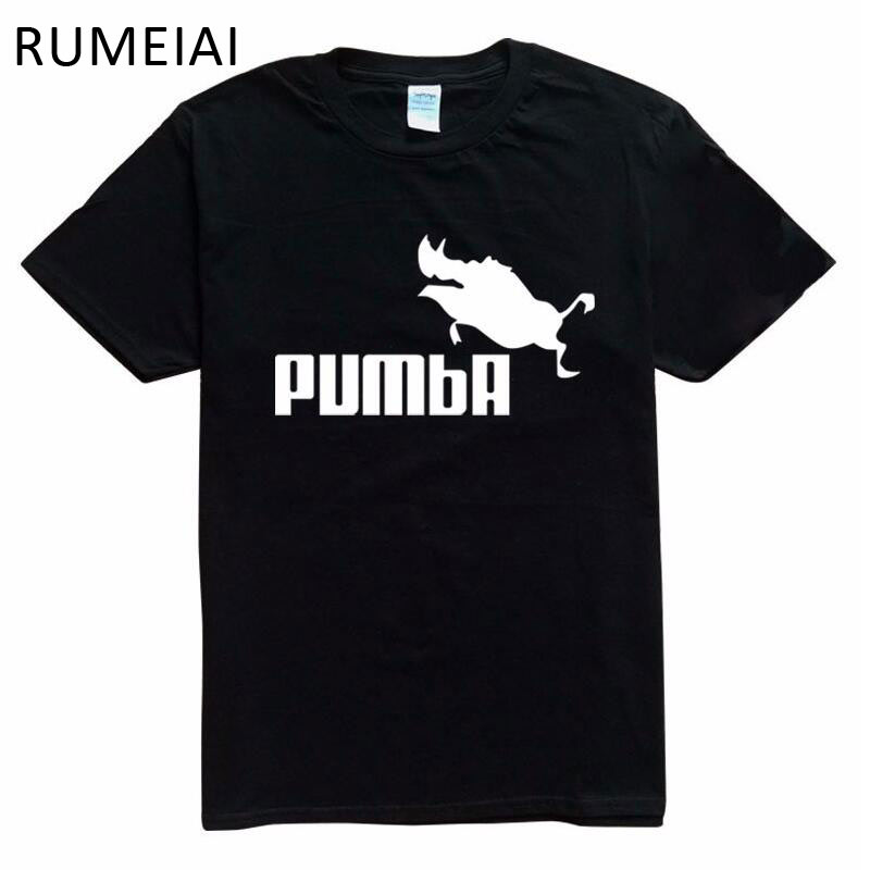2016 New Funny Tee Cute T Shirts Homme Pumba Men Women 100 Cotton Cool Tshirt Lovely