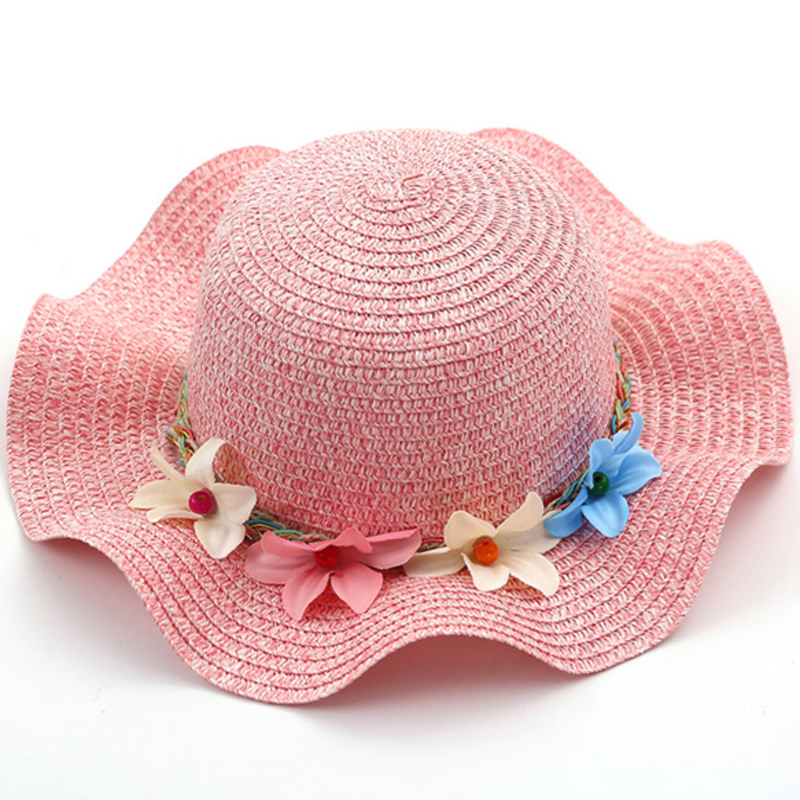 Humor Summer Baby Hat Cap Summer Baby Kids Girl Floral Flower Straw Sun Hat Beach Hats Boy Girls Cap Set Hot Selling 2019 Girls' Baby Clothing