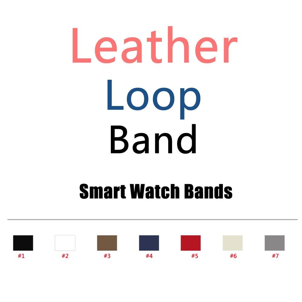 все цены на  Leather Loop For Apple Watch Band 38mm/42mm Adjustable Magnetic Closure Strap Series 3/2/1 Band  онлайн