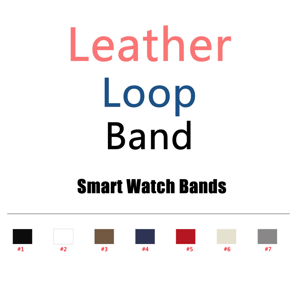 Leather Loop For iWatch Band 38mm 42mm Adjustable Magnetic Closure Strap