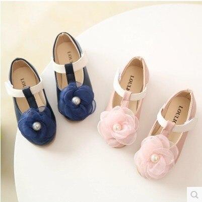 Girl princess shoes 2017 autumn new children s peas shoes baby dance breathable shoes