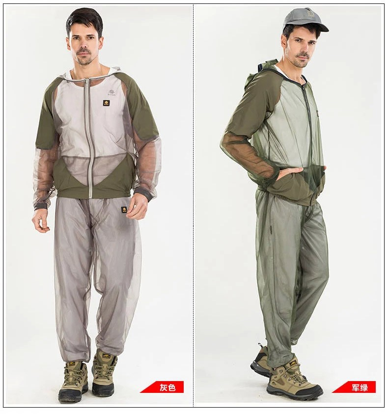 Free Shipping Fishing Suit,Mosquito Prevent Suit,Camping Clothing Set,Mosquito Suit,Mosquito Net suit