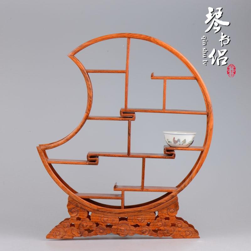 Rosewood tesoro adornos estante marco de madera de caoba chino ...