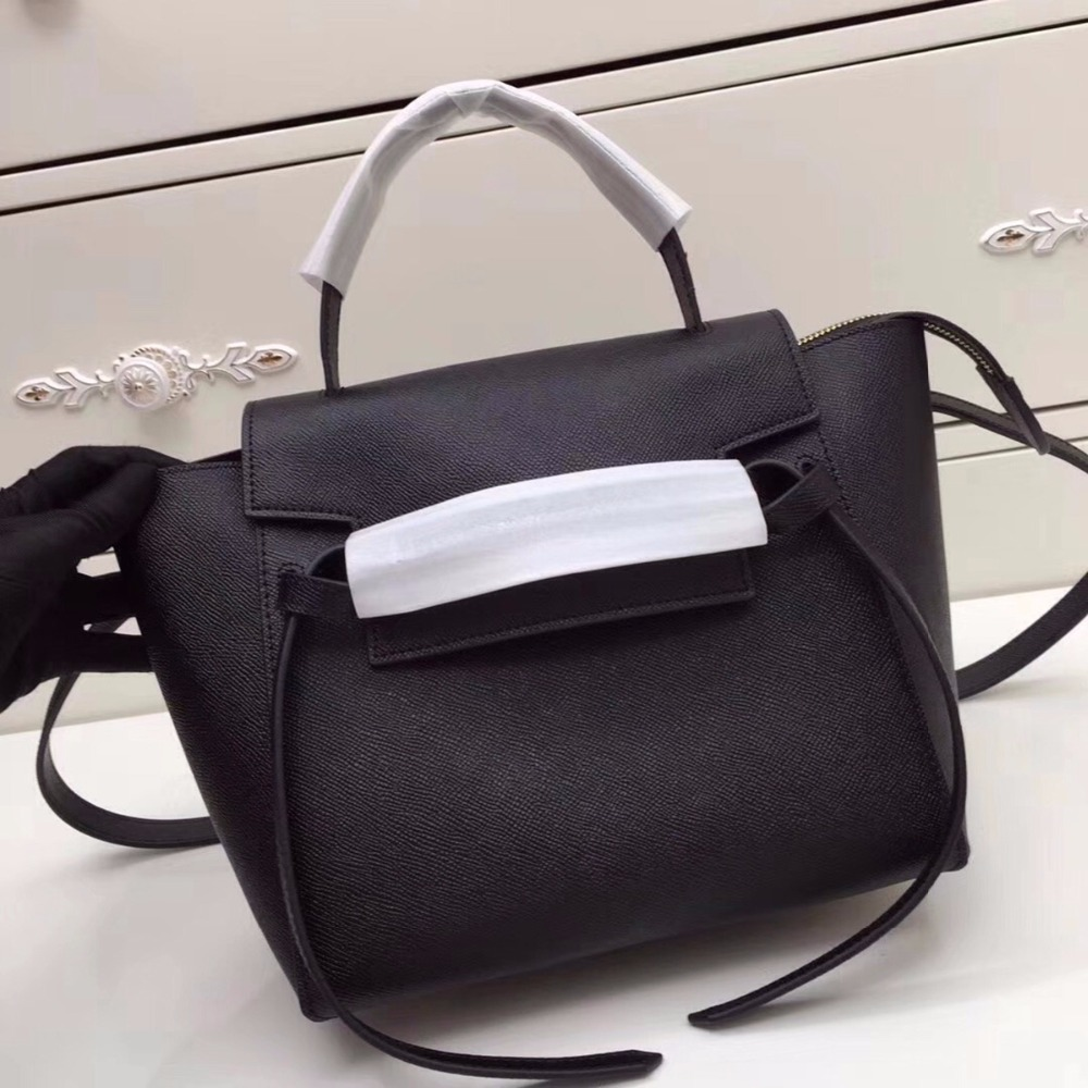 High quality luxury handbags women bags designer belt bag in grained calfskin Removable leather strap crossbody bags casual tote