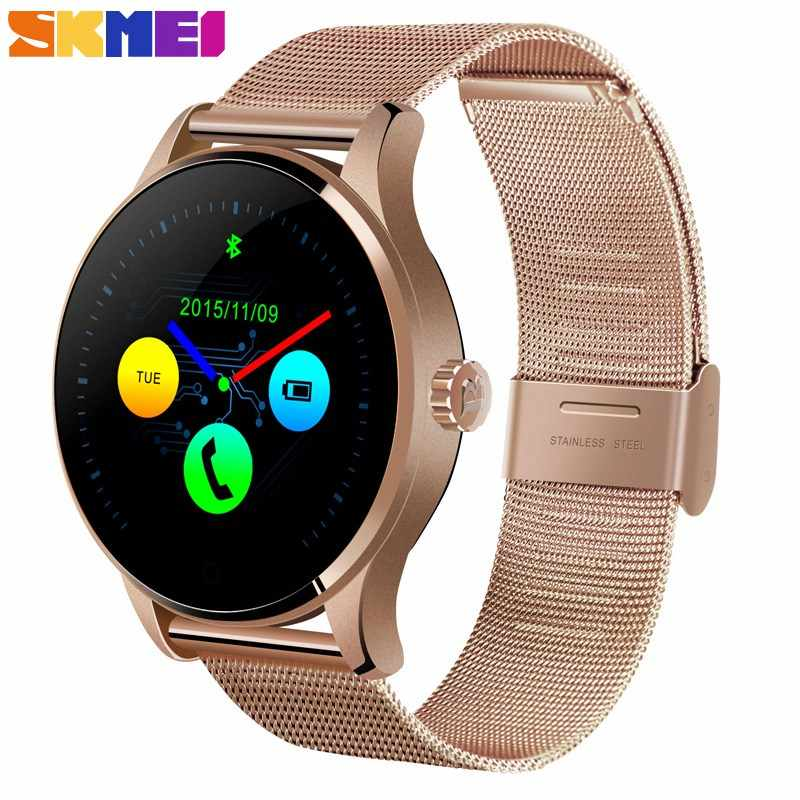 SKMEI Fashion Smart Watch Sleep/ Heart Rate Monitor Phone Book Call Records Streel/Leather Strap relogio W32 Men Women Clock