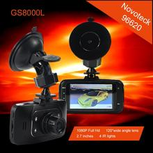 Novatek 96220 Coches-detector Full Hd 1080 Cámara Del Coche GS8000L 2.7 pulgadas LCD G-sensor HDMI 25FPS IR de Visión Nocturna Coche Dvr 8075