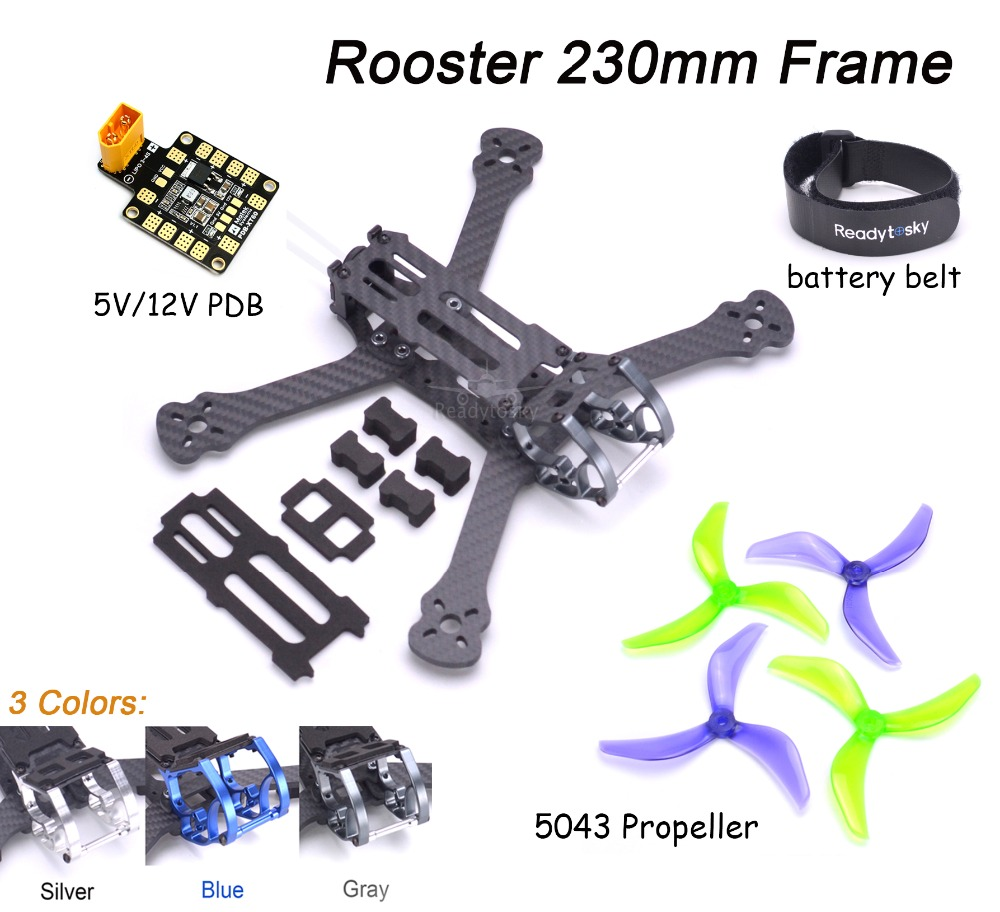 NEW Rooster 230 5 FPV Racing Drone Quadcopter Frame 5 Inch FPV Freestyle Frame PDB For