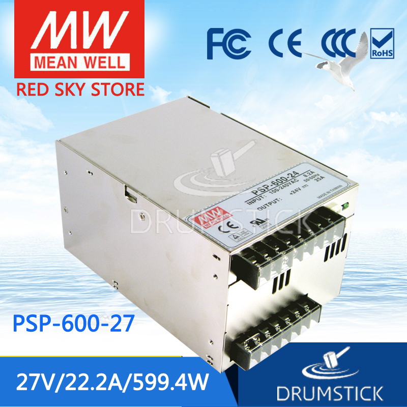 MEAN WELL PSP-600-27 27V 22.2A meanwell PSP-600 27V 599.4W with PFC and Parallel Function Power Supply leading products mean well sp 320 27 27v 11 7a meanwell sp 320 27v 315 9w single output with pfc function power supply