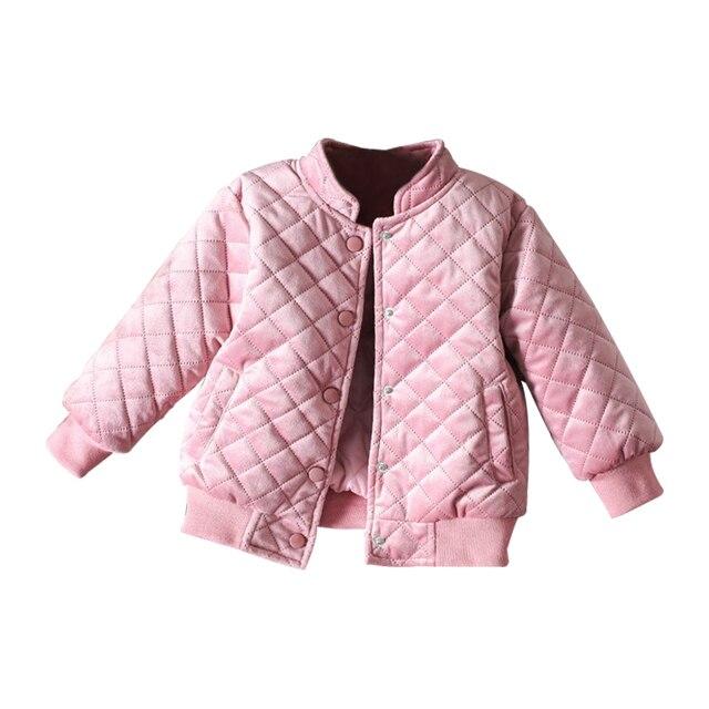 Детские пальто для девочек осень-зима кашемир одежда для девочек подростков Осенняя куртка теплая спортивная верхняя одежда детей Бейсбол Повседневное 3 Т Одежда