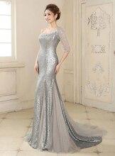 Elegante Lange Abendkleid 2016 Kleid Pailletten Abendkleider Perlen Vestido de festa longo Robe de soiree Nach Maß