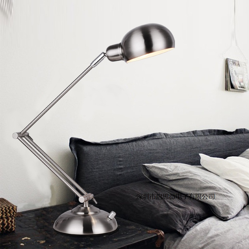 New Led Table Lamp Iron Modern American Foldable Long-Arm Desk Lamp Reading Lamp E27 110V 220V Fashion Office Lamp For Study american creative fashion led the study bedroom mirror before the long arm of the head of a bed wall lamp wrought iron long arm