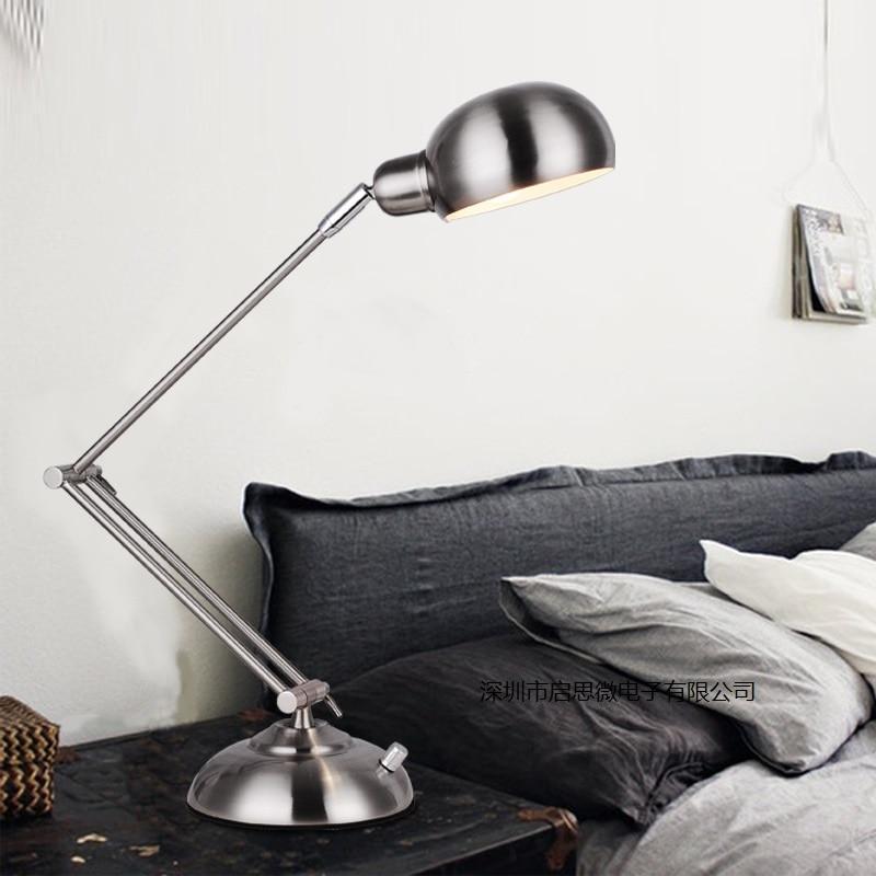 New Led Table Lamp Iron Modern American Foldable Long Arm