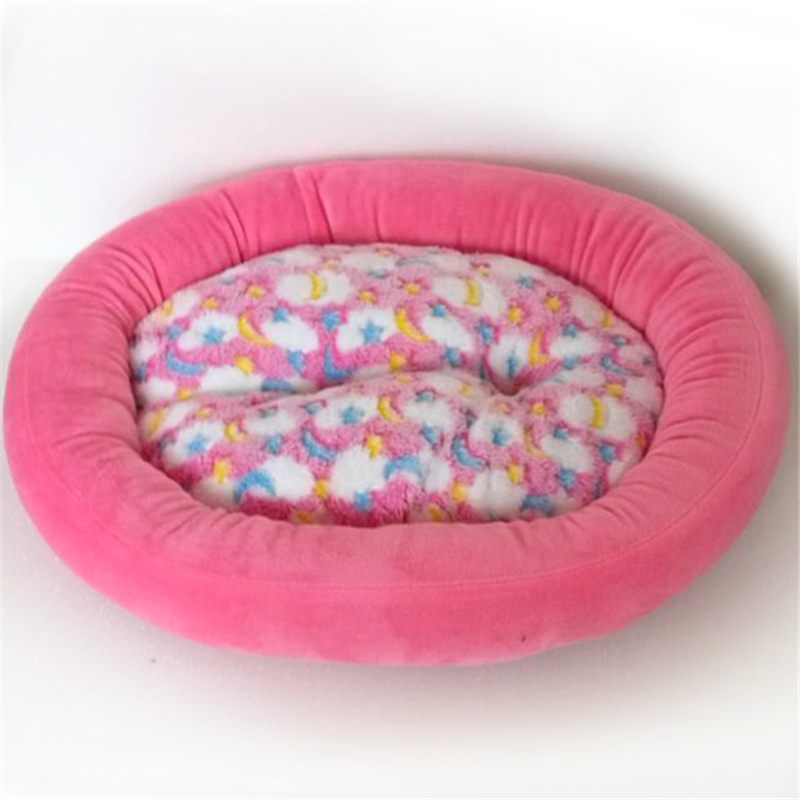 Dog Bed Suede Mat Kennel Soft Pet oval Beds Dog Puppy Warm Bed House Plush Cozy Nest Dog House Space cotton Warm Pet Houses