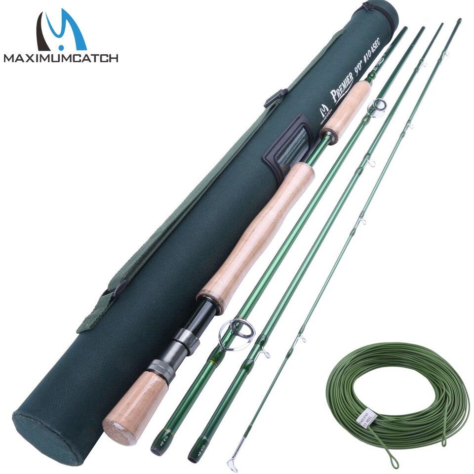 ФОТО Maximumcatch LW#10WT Fly Rod 9' 4Sec Tip Flex IM10 Fishing Cordura Rod Tube WF10F Fly Line