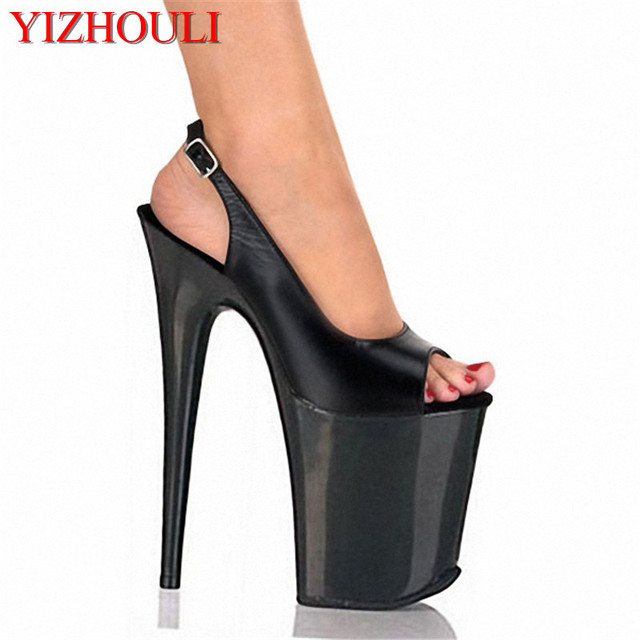 8 inches high heels open toed shoes platform of fashionable women 8 inches high heels open toed shoes platform of fashionable women wearing sexy black wedding altavistaventures Images