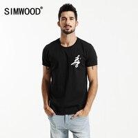 SIMWOOD 2017 New Summer T Shirts Men Fashion 100 Pure Cotton 6th Commemorative Black Tops Brand