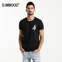 SIMWOOD 2017 New Summer T Shirts Men Fashion 100 Pure Cotton 6th Commemorative Black Tops Brand