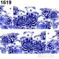 2016 hermosas flores de uñas uñas de arte calcomanías de transferencia de agua pegatinas decoración caliente 1UAY 2N9A 8LS8