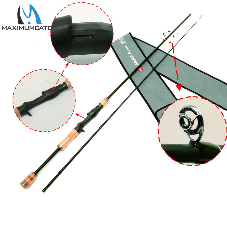 30T+36T/ IM8 Carbon Megafight Casting Rod American Tackle Micro-wave Duralite Ring Casting Fishing Rod