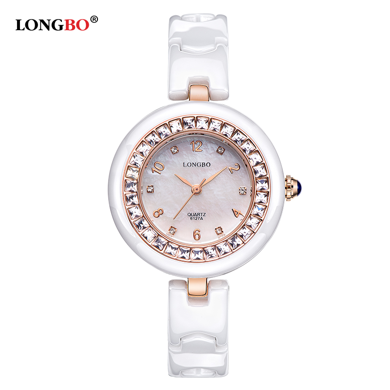 2017 New Watch Women Brand Luxury Fashion Casual Quartz Ceramic Watch Lady relojes mujer Women Wristwatch Girl Dress Clock 6127 refilled black cartridge 106r01217 laser printer cartridge chip reset for xerox phaser 6360 toner chip