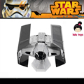 LELEOnline@ICONX Metal Earth Same style Star Wars DV TIE FIGHT  Colour white black 3D Metal Model Etching puzzle Assembling DIY