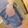 Лето беременным джинсовые шорты для беременных женщин боковой молнии беременным для беременных Большой размер женская одежда