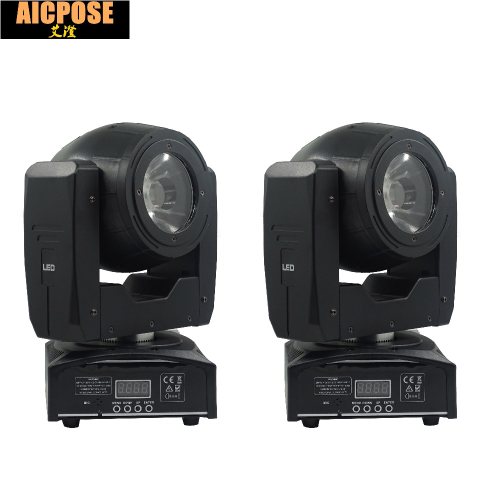 2pcs/lots 60W LED Beam Moving Head Light Spot Light with Rotation Function for DJ Disco Stage Projector Dmx 7/16 Channels