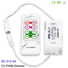 DC12V-24V 8 keys RF remote LED Dimmer CV PWM Dimmer Controller for SMD 5050 3528 single color LED Strip Lighting tape