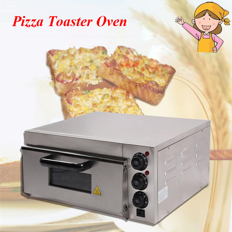 Electrical Stainless Steel Home/ Commercial Thermometer Single Pizza Oven/ Mini Baking Oven/ Bread/ Cake Toaster Oven EP-1ST pfml nb400 stainless steel high temperature deck baking pizza oven machine for pizza shop